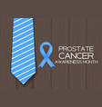 blue ribbon symbol of world prostate cancer vector image vector image
