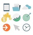 business icons flat design vector image