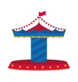 carousel icon Circus and carnival design vector image vector image