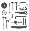carpentry woodworkers sawmill lumberjack tools vector image