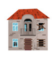 cartoon color old house on a white vector image vector image