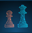 chess queen and pawn vector image