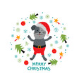 christmas card unique hand drawn style cute funny vector image vector image