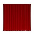 closed curtain vector image vector image