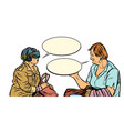 conversation older women in virtual reality vr vector image vector image