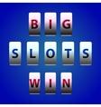 Counter Big Win Slots vector image
