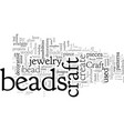 craft beads old and new vector image vector image
