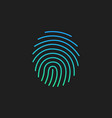 cryptographic signature glyph icon security and vector image vector image