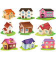 Different houses vector image