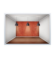 example of empty room with brick wall vector image vector image