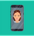 face recognition and identification concept vector image