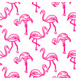 flamingo hot pink outline sketch seamless vector image vector image