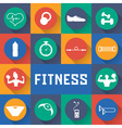 flat design icons fitness elements vector image