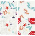 Four beach themed patterns vector image vector image