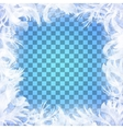frost glass pattern Winter frame on vector image vector image