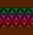 geometric 3d pattern with colorful basic shapes vector image