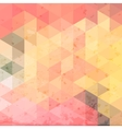 Geometric background with grunge texture Retro vector image vector image