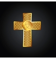 Golden celtic cross vector image vector image