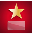golden star and glass blank vector image