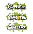 graffiti logo inscription vector image