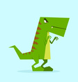 green dino in action 03 vector image vector image