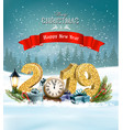 holiday christmas background with 2019 and vector image