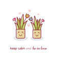 house plants couple vector image vector image