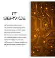 IT service banner Can be used for web vector image