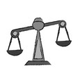 justice scale icon image vector image vector image