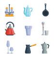 kitchen utensils icons vector image vector image
