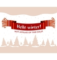 knitted winter scarf vector image