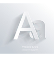 Letter A white paper symbol icon vector image