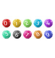 lotto bingo colored balls with numbers vector image