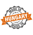 made in hungary round seal vector image vector image