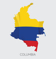map of columbia vector image vector image