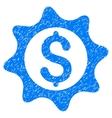 Money Seal Grainy Texture Icon vector image vector image