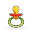 nipple badummy pacifier cartoon design vector image