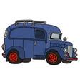 old blue van vector image vector image