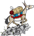 pack mule vector image vector image