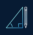 pencil with triangle linear concept colored vector image vector image