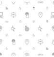 pointer icons pattern seamless white background vector image vector image