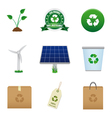 renewable energy and recycle icons vector image