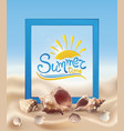 sand and seashells vector image vector image