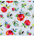 seamless abstract floral pattern red for girl vector image vector image