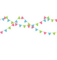 seamless flag garland decoration chain pink vector image
