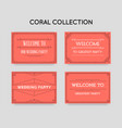 set great quality style invitation in art deco vector image vector image