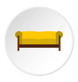 sofa icon circle vector image vector image