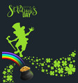 st patricks day banner template poster for party vector image vector image