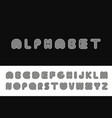 striped english alphabet linear font vector image