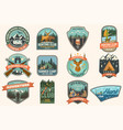 summer camp and hunting club patches vector image